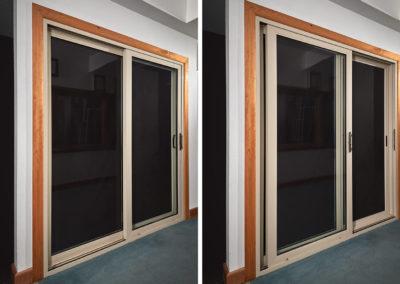 Gill-Windows-showroom-sliding-patio-door-interior-open-and-closed